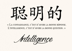 Intelligence Proverbe Chinois