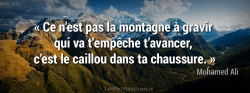Citation Mohamed Ali - Avancer