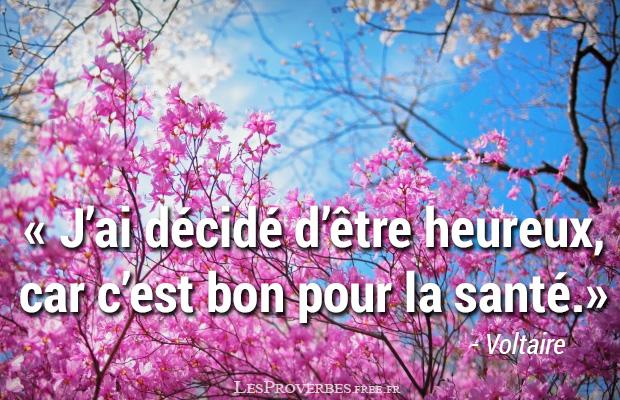 Favorit Etre heureux Citation Voltaire - Citation en image - Voltaire QZ92