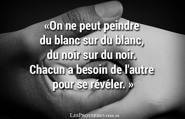 Proverbe africain noir et blanc citation en image - Peut on repeindre sur de la tapisserie ...