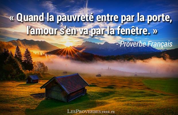 Proverbe Francais La Pauvreté Citation En Image