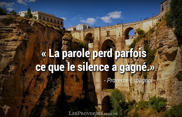 Proverbe Espagnol La Parole Citation En Image