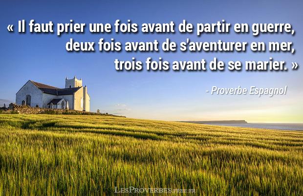 Proverbe Espagnol Prier Citation En Image