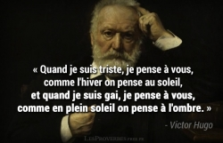 Citation Victor Hugo - Quand je suis triste