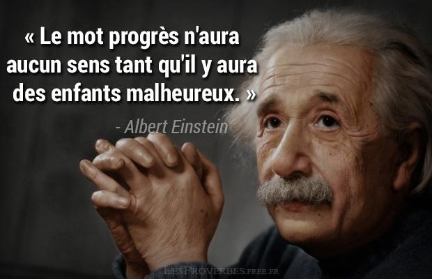 Citation Albert Einstein Le Mot Progres Citation En Image